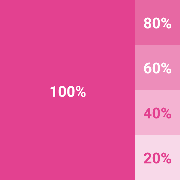 olika nyanser av rosa